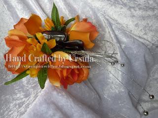 Orange Roses Fascinator