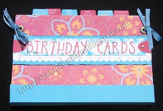 One Year of Birthday Cards Folder