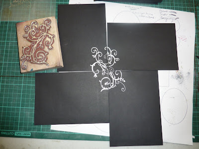 Embossing - Wedding invite envelopes - sprinkle powder