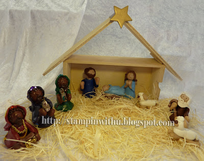 All Set up Stable With Nativity Set