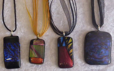 Dichroic Glass Pendants pic 1