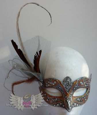 The Mask I made for Councillor Lisa Bradly - Mayor's Masquerade Ball