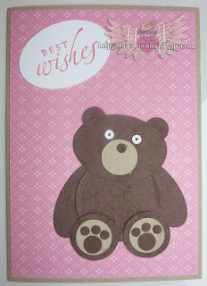Bear Punch Art  Birthday Card