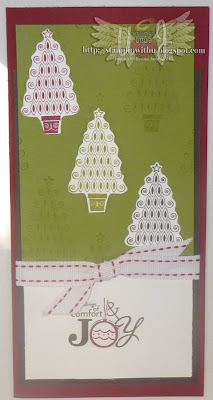 3 Tree Christmas Card