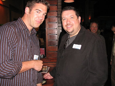 Jim Kukral and Lewis Howes at the Cleveland LinkedIn Networking event.