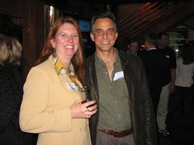 Lisa Ryan and Bob Perkoski making the most of offline networking to supplement their online efforts.