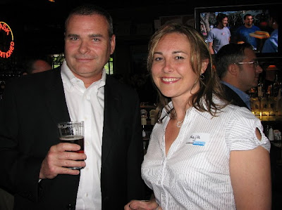 James Betts from Server Technology and Kaija Bruveris of AXA Advisors making the rounds and connecting with people.