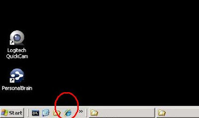 Final Quick Launch toolbar with IE8 icon.