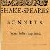 Os Sonetos, de William Shekespeare