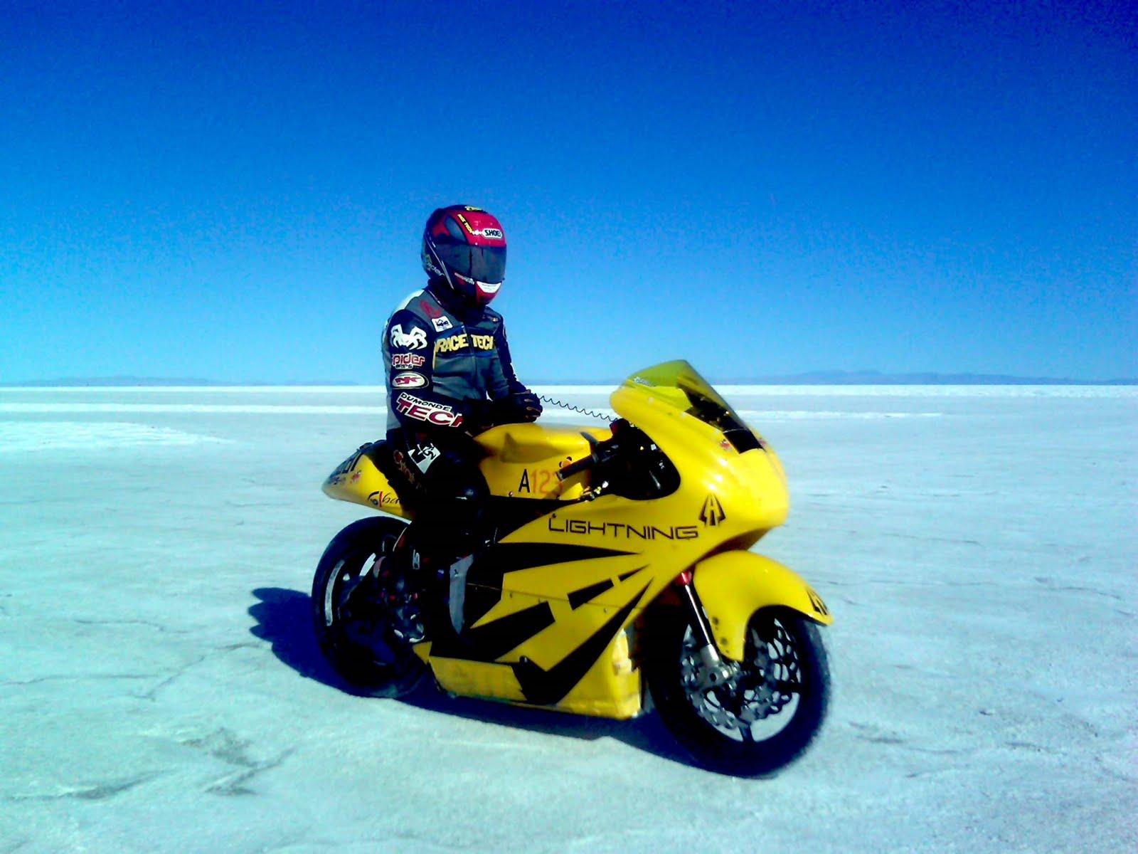 Cling on for dear life !!!: Lightning Motors sets land speed record