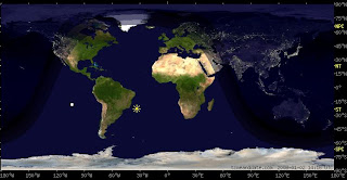 The Universe and Me: Day and night world map