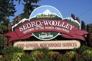 Sedro-Woolley welcome sign