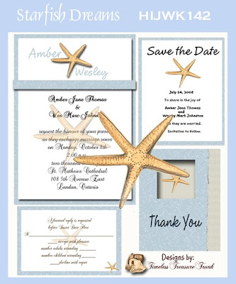 There are various kinds of stationery for the nauticalstyle wedding theme