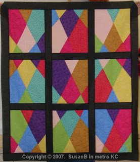 stained glass quilt top
