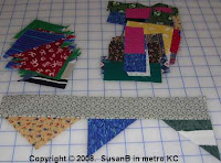 small mile-a-minute quilt pieces