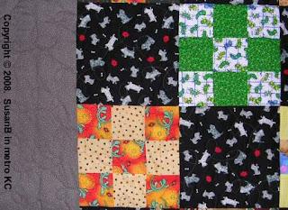 9 patch quilt detail