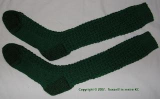 green knee socks
