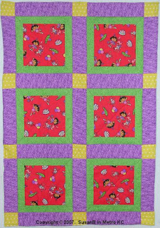 simple sashed block quilt
