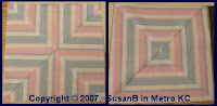 new blocks from striped fabric