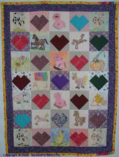 crayon picture quilt