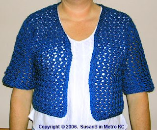 summer bolero shrug - front view