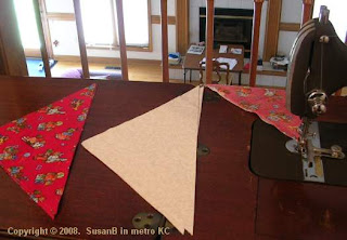 triangle quilt pieces