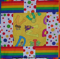 colorful quilt block detail