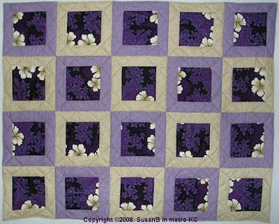 framed squares quilt