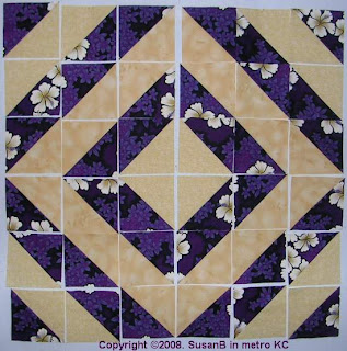 half-square triangle quilt blocks