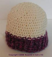 crochet spiral skull cap