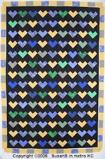heart quilt in progress