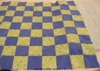 checkerboard quilt top