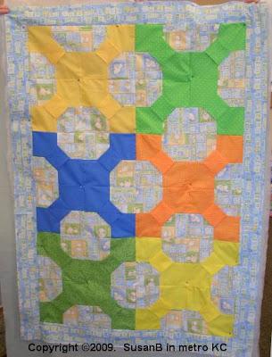 3D bow-tie quilt top