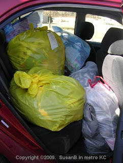 Back seat load - passenger side