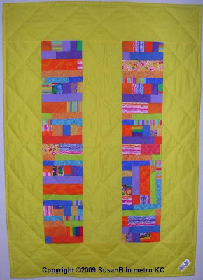 quilt with blocks and strips