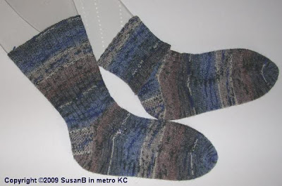 ribbed hand knit socks