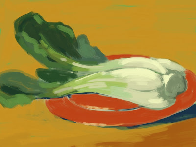 Bok choy painting by Richard McFarland