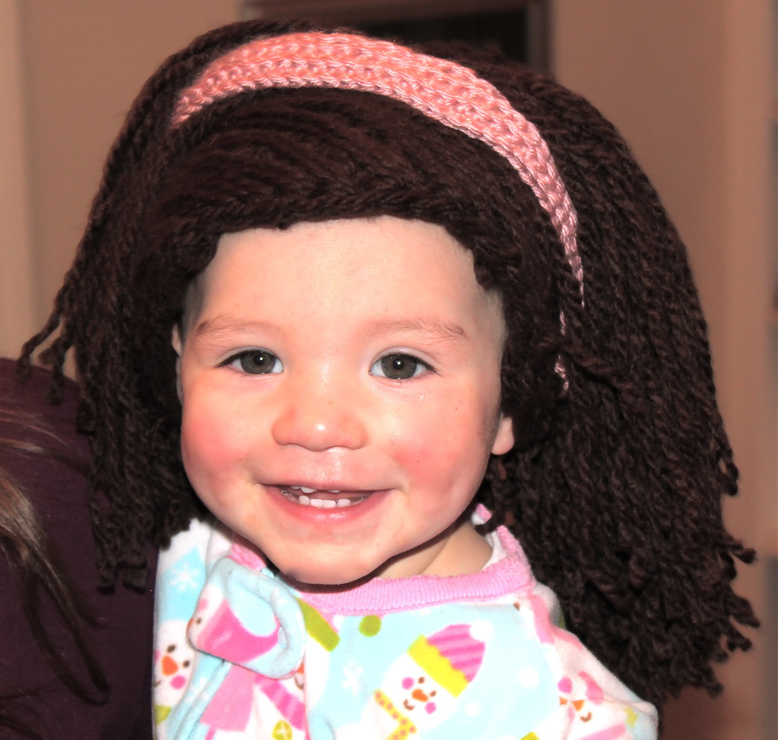Crochet Hair Cap : This free crochet pattern will cover your babys bald head with thick ...