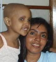 Cami cuando estuvo en tratamiento de quimioterapia