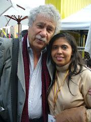 Con el ecritor Juan Manuel Roca
