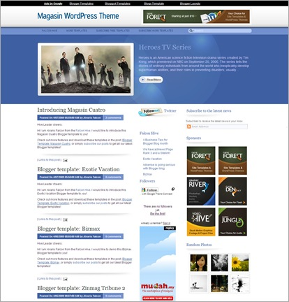Magasin cuatro Blogger Template