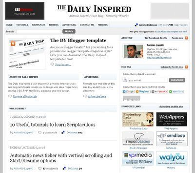 The Daily Inspired Blogger Template