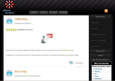 dfTheme Dark Blogger Template