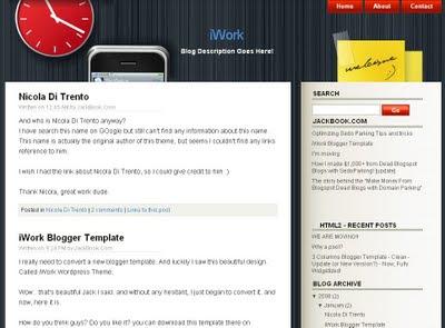 iWork Blogger Template