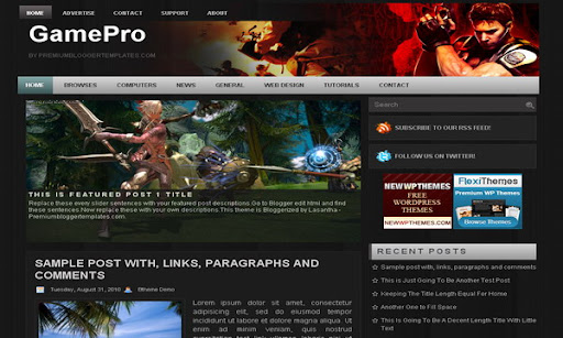 GamePro Blogger Template