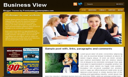 Business View Blogger Template