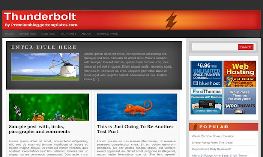 Thunderbolt Blogger Template