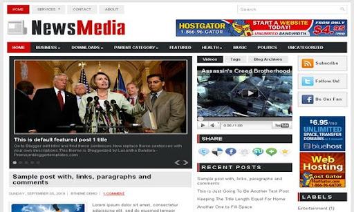 News Media Blogger Template