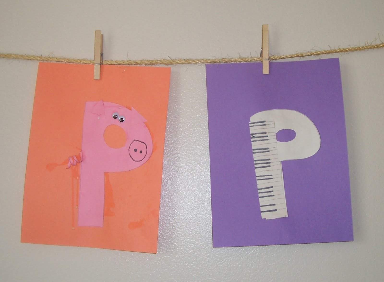 Be it ever so humble letter p for Letter p preschool crafts