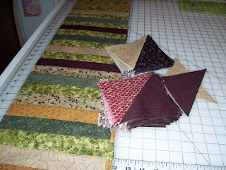 This week's sewing projects: A Turnover Quilt and a Table Topper